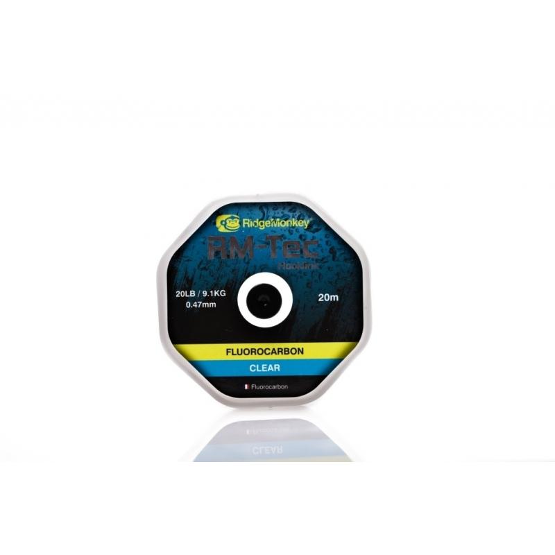 RM-Tec Flourocarbon Hooklink 15lb Clear