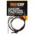 Leadcore bez rdzenia z krętlikiem do szybkiej wymiany 45 lbs / 70 cm – brązowy UNDERCARP