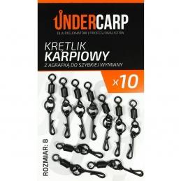 Krętlik karpiowy z agrafką do szybkiej wymiany UNDERCARP