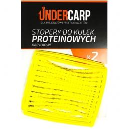 Stopery do kulek proteinowych baryłkowe – żółte UNDERCARP