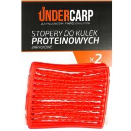 Stopery do kulek proteinowych baryłkowe – czerwone UNDERCARP