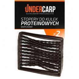 Stopery do kulek proteinowych baryłkowe – czarne UNDERCARP