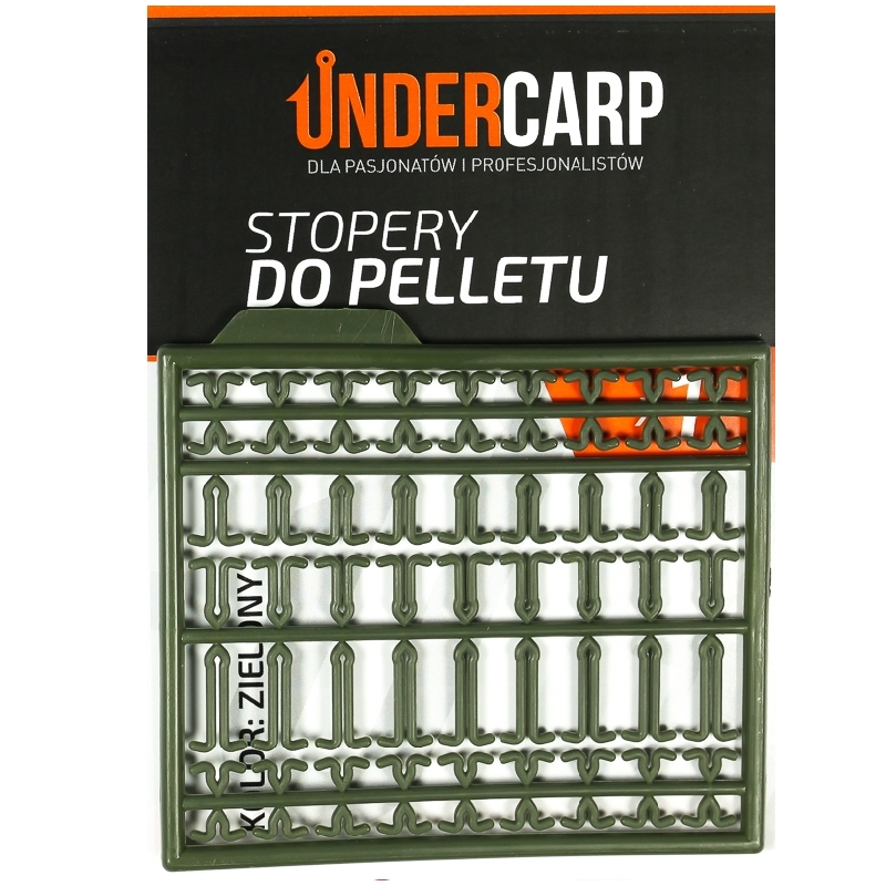 Stopery do pelletu - zielone  UNDERCARP